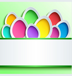 easter card with colorful 3d egg vector image