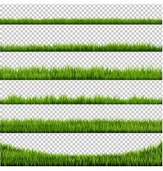 grass border big collection vector image vector image