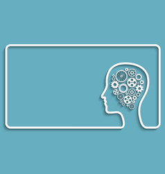 human head gears frame vector image vector image