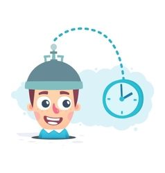 study of time vector image