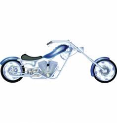 chopper silver vector image