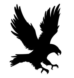 eagle silhouette 001 vector image vector image