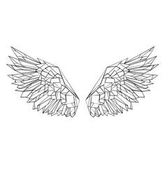 polygonal wings vector image vector image