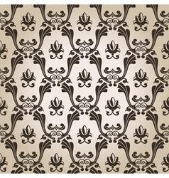 seamless vintage wallpaper background old design vector image vector image
