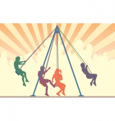 swings vector image vector image