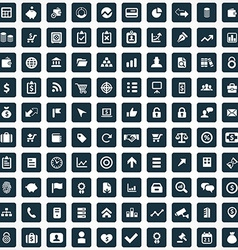 100 finance icons vector image