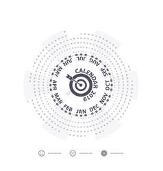 2019 calendar templatecircle calendar vector image