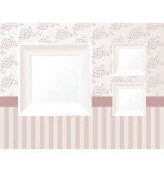 3d empty frame vector