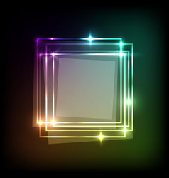 Abstract background with neon colorful squares vector