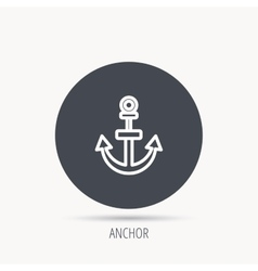 Anchor icon Nautical drogue sign Sea symbol vector