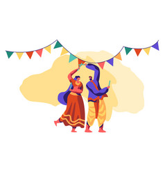 asian dance at national festival in india vector image