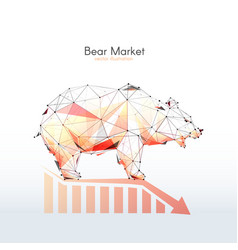 Bear market low poly vector