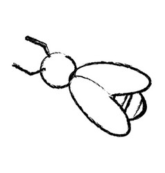 Bee work cooperation image sketch vector