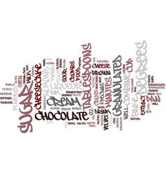 Best recipes chocolate velvet cheesecake text vector