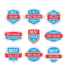 Best seller badges set in retro vintage vector