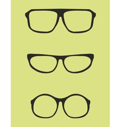 Black nerd secretary or teacher glasses vector image