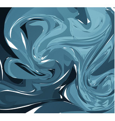 blue marble abstract background liquid marble vector image