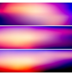 Bright colorful banners vector
