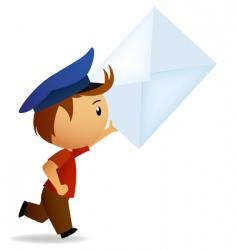 Cartoon postman vector