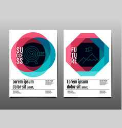 cover design template layout design annual vector image
