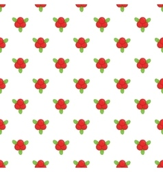Cranberry pattern cartoon style vector