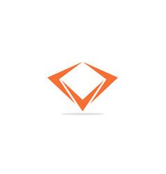 diamond shape triangle logo vector image