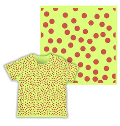 dot triangular cute seamless pattern ready for vector image