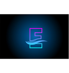 E blue and pink alphabet letter logo icon for vector