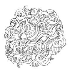 endless background stormy sea line art vector image