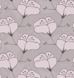 Fabric design flower light brown vector