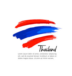 Flag thailand brush stroke design vector