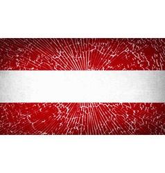 Flags Austria with broken glass texture vector image