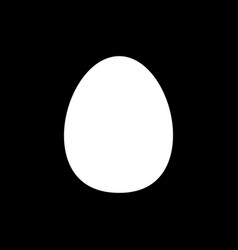 flat egg icon vector image