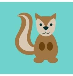 Flat icon stylish background cartoon squirrel vector