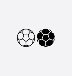 football black icon soccer ball vector image