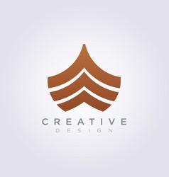 Front ship template design company logo vector