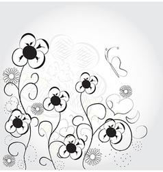 Fun cute flowers vector image