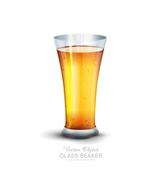 Glass with drink on the white background vector