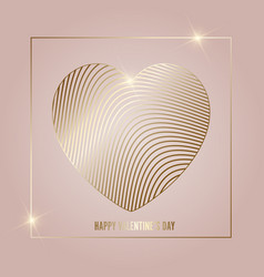 Gold and black valentines day background vector