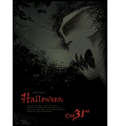 halloween template with skeleton vector image
