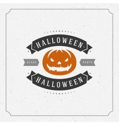 Happy Halloween Background and Pumpkin vector image