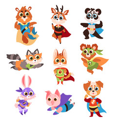 hero animals characters cute children animals vector image