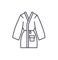 home bathrobe line icon concept home bathrobe vector image