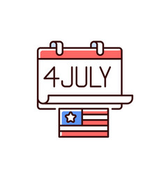 Independence day rgb color icon vector
