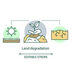 Land degradation concept icon soil erosion arid vector