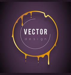 Luxury art slim melting golden frame 3d flowing vector