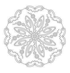 Mandala coloring page vector