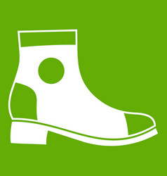 men boot icon green vector image