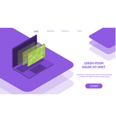 mobile flat payment vector image