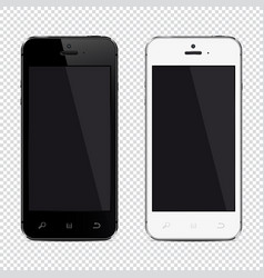 mobile phone isolated on transparent background vector image